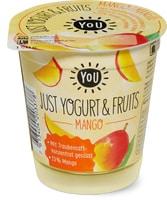 You Just Yogurt & Fruits, Mit Traubensaftkonzentrat gesüsst.