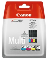 Canon CLI-551M Multipack Tinte BKCMY 7ml