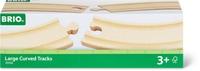 BRIO 1/1 Rails courbes larges, 170mm (FSC)