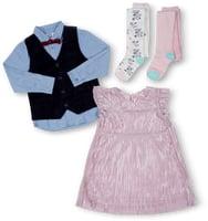 Tout l'assortiment de vêtements pour bébé et enfant, y compris les chaussures pour enfant