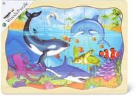 Woody Puzzle di legno animali marini  (FSC®)