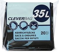 Sacchi per i rifiuti piegati Cleverbag, 35 l