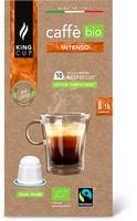 Capsule King Cup di caffè gusto arabica        o gusto intenso Bio