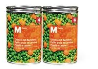 Conserves de légumes ou compote de pommes, suisses, M-Classic, en lot de 4