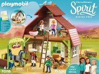 PLAYMOBIL 70118 Grange avec Lucky, Apo et Abigaëlle