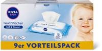 Lingettes imprégnées Nivea Baby en emballages spéciaux