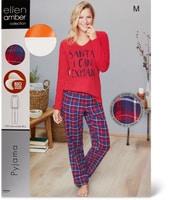 Ellen Amber Damen-Pyjama, Bio Cotton