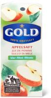 Jus de pomme Gold, TerraSuisse, 33cl et 1litre ainsi que 3x33cl