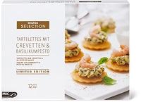Tartelettes con gamberetti e pesto di basilico Sélection