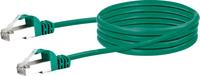 Schwaiger Cable de réseau S/FTP Cat. 6 0.5m vert