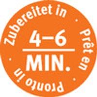 Autres pictos: Prêt en 4 à 6 minutes