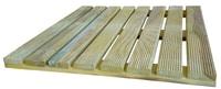HolzZollhaus Caillebotis en bois pression imprégné 50 x 50 cm
