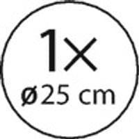 Pâte à gâteau: 1 pâte à gâteau ronde d'un diamètre de 25 cm