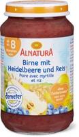 Alnatura Birne mit Heidelbeere und Reis