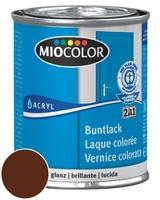 Miocolor Acryl Vernice colorata lucida Marrone cioccolato 375 ml