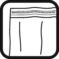 Dispositivo di fissaggio delle tende: Nastro d'arricciatura