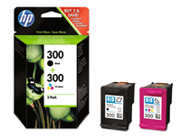 HP Combopack 300 cartuccia d'inchiostro CN637EE Cartuccia d'inchiostro