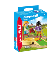 Playmobil Bambini al minigolf