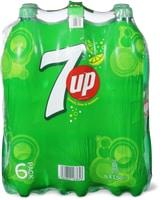 Tutti i tipi di 7up e 7up H2OH! in conf. da 6 x 1,5 l e 6 x 1 l