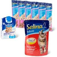 Tutto l'assortimento di alimenti per gatti Selina