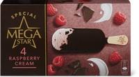 Bâtonnets glacés MegaStar Raspberry Cream