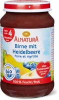 Alnatura Birne mit Heidelbeere
