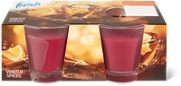 Candele profumate per l'inverno Migros Fresh in conf. da 2