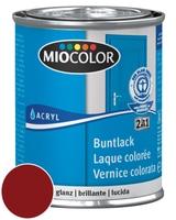 Miocolor Acryl Buntlack glanz Weinrot 125 ml
