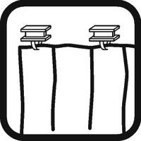Dispositivo di fissaggio delle tende: Binario