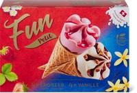 Cornets Fun Petit vanille et fraise
