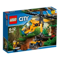LEGO City L'hélicoptère cargo de la jungle 60158