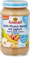 Alnatura Pomme-pêche-banane au yaourt
