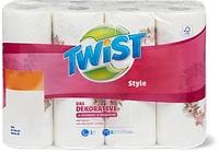 Essuie-tout ménager Twist Style avec motif de la Saint-Valentin, en emballage spécial, FSC