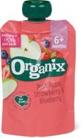 Gourde Organix poire-framboise ou pomme-fraise-myrtille