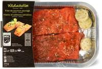Filetto di salmone selvatico MSC limone/aneto in vaschetta per cottura al forno