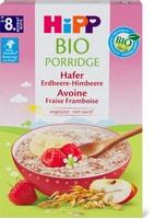 Porridge d'avena alle fragole e ai lamponi e pappa di spelta Hipp