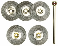 Proxxon Brosses circulaires acier 5 pcs.