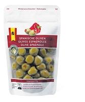 Olive spagnole farcite con peperoncini