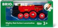 BRIO Locomotive rouge puissante à piles (FSC)