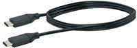Schwaiger Cable USB 3.1 1m noir, USB 3.1 typeC / USB 3.1 typeC