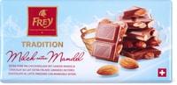 Cioccolato al latte finissimo con mandorle o nocciole Frey, UTZ