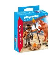 Playmobil Homme des cavernes avec tigre à dents de sabre