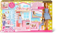 Barbie 2-Etagen Ferienhaus & Puppe Puppenhaus