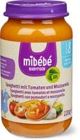 Mibébé spaghetti pomodoro mozzarella