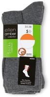 Chaussettes Ellen Amber pour femme, Bio Cotton, en lot de 5