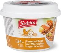 Potée aux lentilles avec saucisses Subito Hot Pot