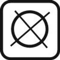 Waschhinweis: Reinigung nicht chemisch