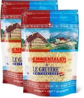 Emmentaler e Le Gruyère grattugiati in conf. da 2