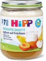 Bio HiPP Yogourt sur un lit de fruits