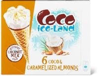 Coco Ice-Land Cornet Caramelized Almonds